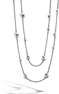 John Hardy Women's Dot Hammered Silver Disc Stations Sautoir Necklace