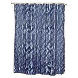 SENSEA - Textil-Duschvorhang - NEO- Blau- B.180 x H.200 cm