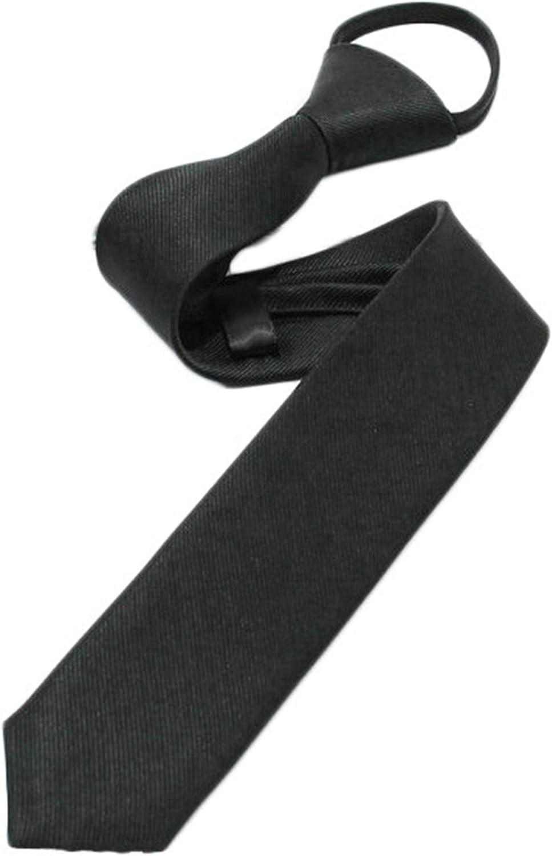 Andongnywell Solid Color 1 year warranty Zipper Tie Opening large release sale PreTied Adjustable Formal Zi