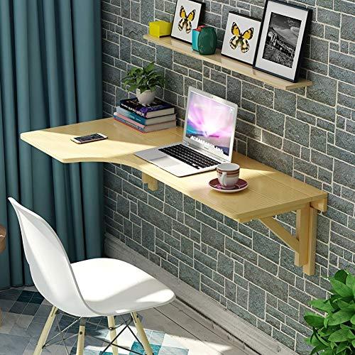LXDZXY Escritorio de la computadora montado en la pared para el hogar - Mesa plegable de montaje en la pared Mesa de comedor de la mesa abatible en forma de L de la esquina Escritorio de la c