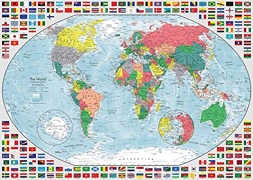 Wereld administratieve kaart puzzel volwassen 1000 puzzels, familiepuzzels, houten puzzels, educatieve spellen, intellectuele uitdagingspuzzels, uitdagingsspellen