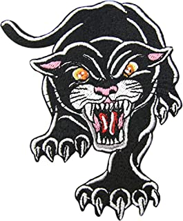 The Roaring Carnivorous Panther Patch Embroidered Applique Badge Iron On Sew On Emblem