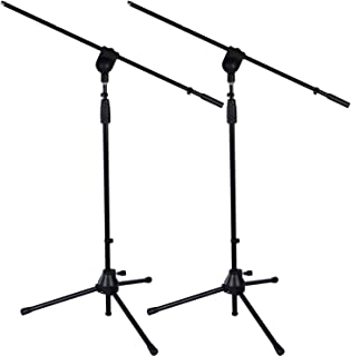 2 Pack LyxPro Microphone Stand Boom Arm Tilting Rotating Floor Podium Stage or Studio Strong Durable And Foldable Height 38.5
