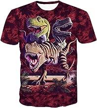 ZIMCA Boys Fashion 3D Dinosaur Printed T-Shirt