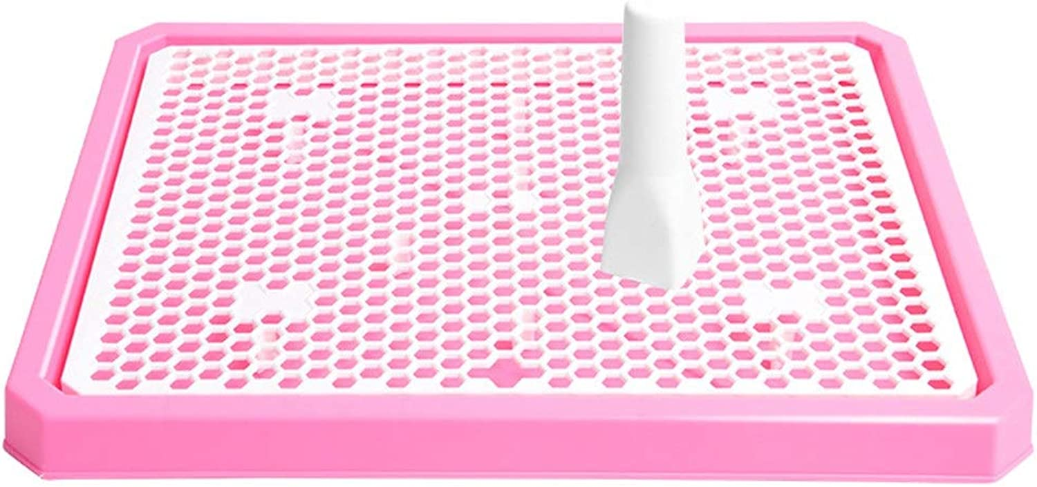 Pee Post Puppy Toilet Puppy Loo Training Potty Dog Toilet for Big Dog Party Food Server (color   Pink, Size   34.5  43.5cm)