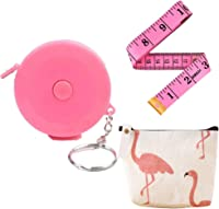3 Pack Ladies Pink Tape Measure-Retractable Measuring Tape for Body,Mini Small Metric Measurement Tape for Sewing Fabric,Cloth Craft,Waist Soft Tailor Measuring Tool 60-inch