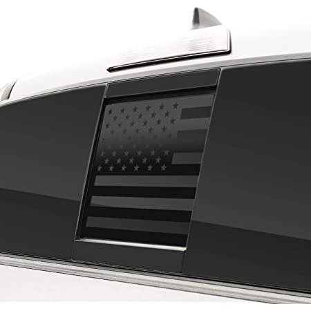Bogar Tech Designs Rear Middle Window American Flag Vinyl Decal Compatible with Tacoma 2016-2021, Matte Black