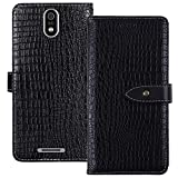 YLYT Shockproof - Black Flip Leather Luxury Cover With