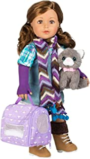 Adora Amazing Pets Misty The Grey Kitty - 4.5-inch Toy Pet For Most 18 Inch Dolls, 6 Piece Set Includes Toy Cat And Access...