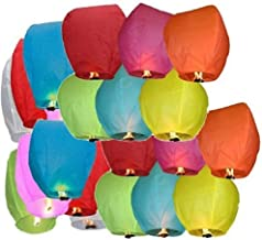Fiable Mart Hot Air Balloon Paper Sky Lantern Pack of 40 (Size : 80 cm x 45 cm)