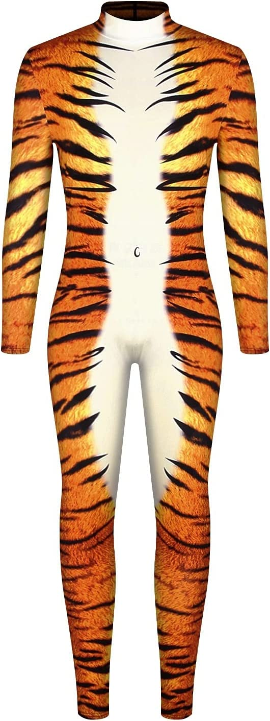WXFASHION Halloween Cosplay Costumes for 3D Men High material Max 41% OFF Printing Leopard