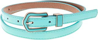 Damara Womens Casual Single Prong Solid Color Skinny Belt