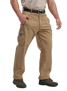 TACVASEN Men's Ski Pants-Snow Ski Tactical Fleece Lining Softshell Winter Pants Trousers