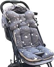 Souarts Universal Kinderwagen Sitzauflage Baumwolle wasserdichte atmungsaktiv Sitzeinlage für Baby Kinderwagen Buggy 35x78 cm Grau