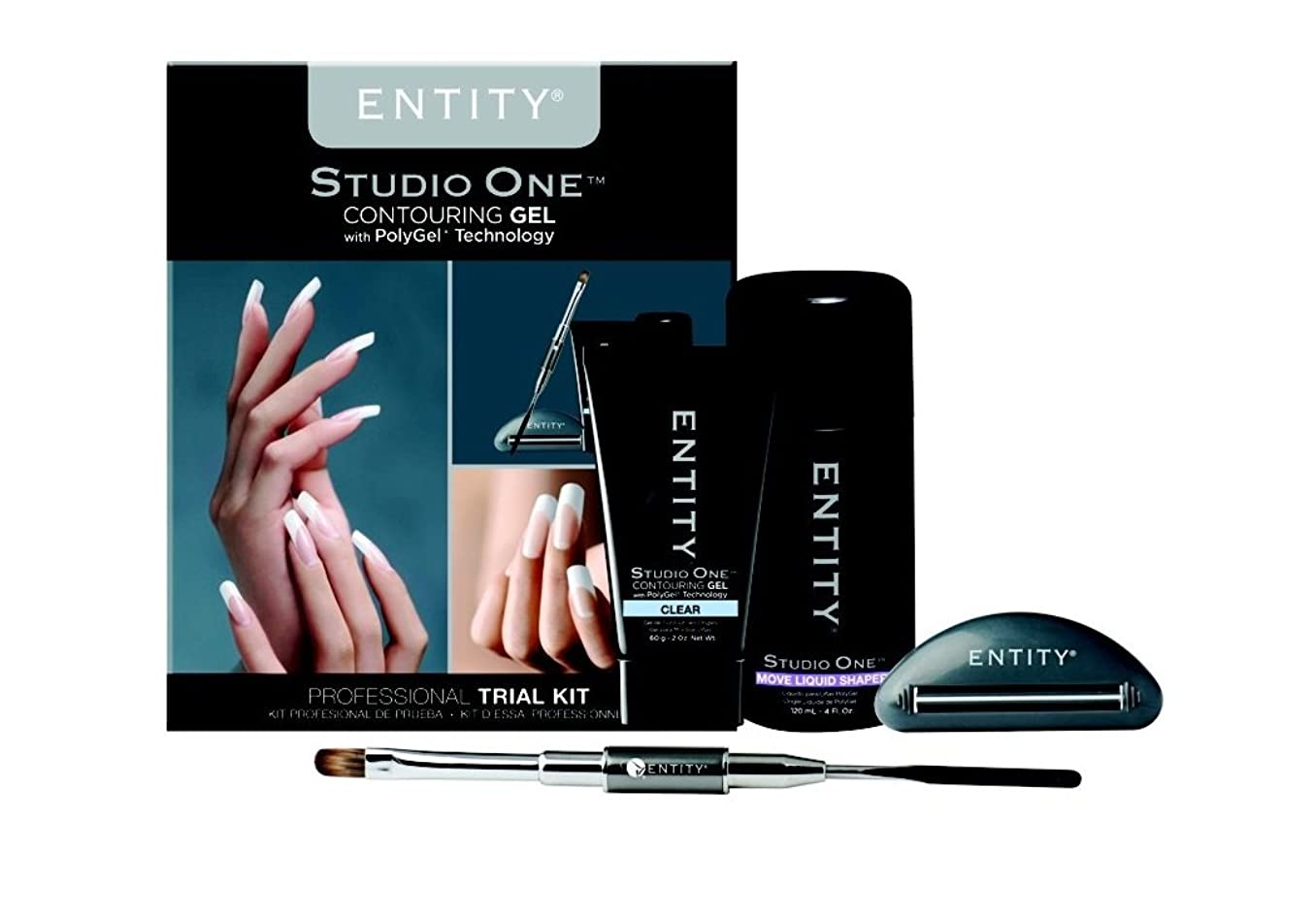 染色前提条件エーカーEntity - Studio One - Contouring Gel Professional - PolyGel Trial Kit