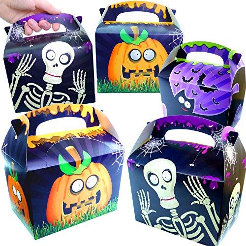 German-Trendseller® - 12 x Geschenke Party Boxen - Halloween ┃ NEU ┃ mit Henkel zum Befüllen ┃ Kindergeburtstag ┃ Mitgebsel ┃ 12 Stück
