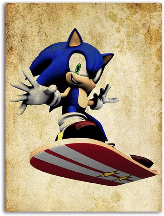 CXHFDC Paint by Special sale item Numbers for Large discharge sale Adults The Hedgehog Games Movi Sonic