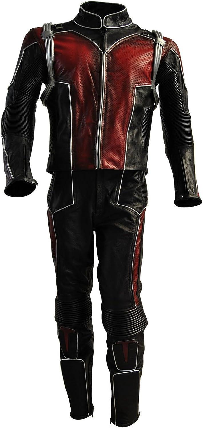 Classyak Men's Ant Motorcycle Man Genuine Leather Suit