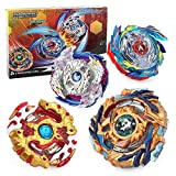 Bey Battle Burst Gyro Attack Blades Metal Fusion Evolution Combination with Starter Battle Arena, Launchers & Includes 4 Battling Metal Gyro Blades