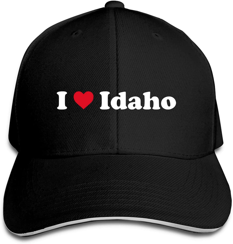 I Love Idaho Unisex San Diego Mall Adjustable Baseball Cap Bargain for Dad Trucker Hat