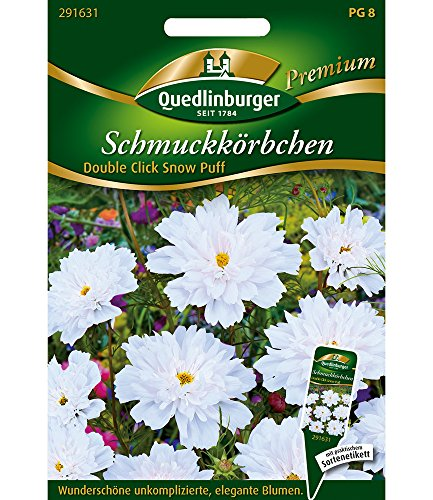 Quedlinburger Schmuckkörbchen Double Click Snow Puff,1 Portion