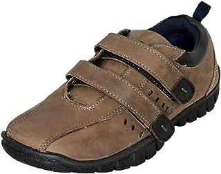 Mardi Gras Boys' Grey Leather Casual Shoes