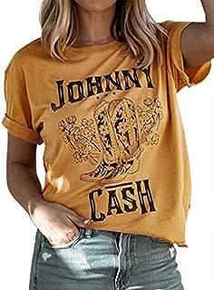 Women Johnny Cash Graphic T-Shirt