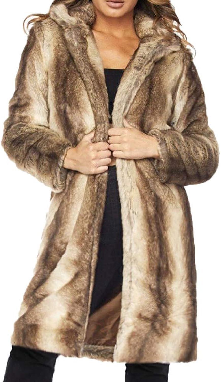 Dempuss Women Winter Warm Casual Faux Fur Jacket Coat Outwear Cardigan