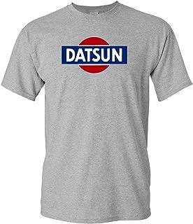Datsun White Retro Logo T-Shirt New! Tee 240z 260z 280z ZX 510 Fairlady (XL, Grey)