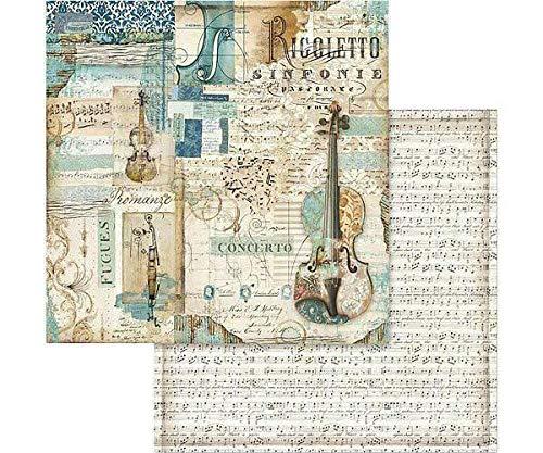Doble cara de un Álbum de recortes de Papel de Violín Y Música de la Hoja, Stamperia, 30 x 30 Vintage, Hojas de Papel, de Impresión, de Scrapbooking