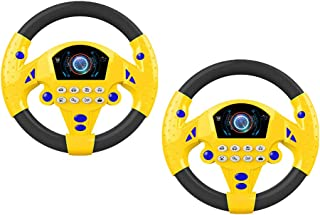 NC 2pcs Steering Wheel Game Toy Infant Pretend Baby Kids Flash Sound Light Toy