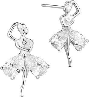 Laimons Breloque pour femme chaussures de ballerine argent sterling 925
