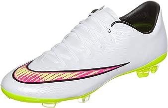 Nike JR Mercurial Vapor X FG White/Volt/Pink/Black Size 5Y