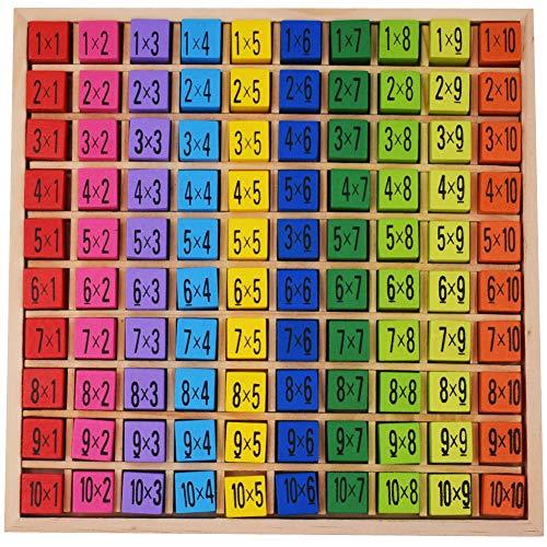 Tabla de multiplicación   10 * 10 Tabla de Multiplicación,Bloques de Bebé Rompecabezas Matemáticas Educativos Juguetes de Madera