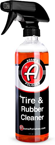 Adam's Tire & Rubber Cleaner (16 oz) - Removes Discoloration From Tires Quickly - Works Great on Tires, Rubber & Plas...
