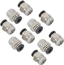 """10 Stks 1/4 """"PT Mannelijke Draad 6mm Rechte Pneumatische Push in Quick Fitting Connectoren voor PETF Buis"""