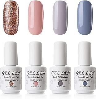 Gellen Gel Polish Set Slected 4 Colors Fashion Collection- 4pcs/set 8ml Each Nail Art Kit