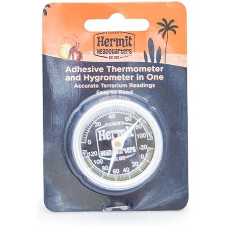 Fluker's Hermit Headquarters Analog Thermometer / Hygrometer Combo