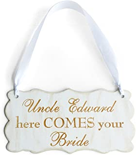 Personalized Wedding Sign, Here Comes Your Bride, Wedding Decorations, Rustic Wedding Sign