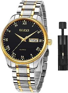 Stainless Steel Watch Men&Women,Fashion Casual Watch,Luxury Watch,Quartz Watch Men/Women,Date Day Watch,Dress Watch,Waterproof Watch,Luminous Steel Watch Men/Women,OLEVS Watch,Business Watch