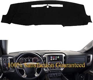 Dash Cover Custom Fit for 2014-2018 Chevy Chevrolet Silverado 1500 / GMC Sierra 1500, 2015-2018 2500 HD/3500 HD, Dashboard Mat Pad (14-18,Black) Y32