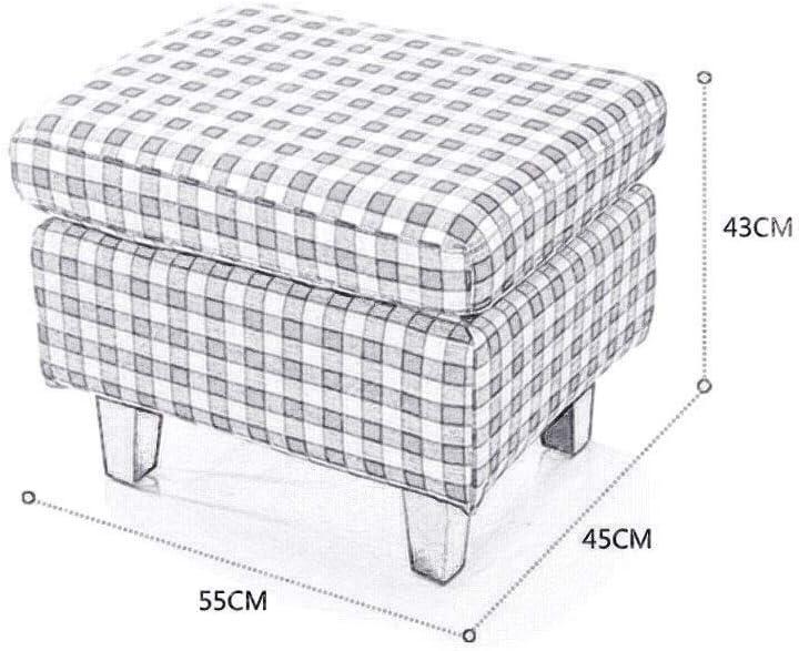 YUMUO Tabouret de Chaussure en Tissu léger Tabouret de lit en Tissu Tabouret de canapé rectangulaire Vêtements Tabouret de canapé F0306 (Couleur: Rouge) 3