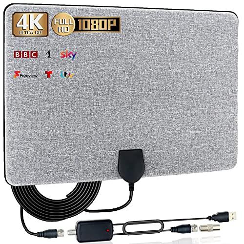 TV Aerial,Indoor Amplified Digital HDTV Antenna 150+ Mile Range with 4K...