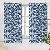 Cortinas opacas con estampado BGment para habitación de los niños, oscurecimiento térmico, cortinas para sala de estar y dormitorio, 2 paneles, tela, azul, W46 X L54