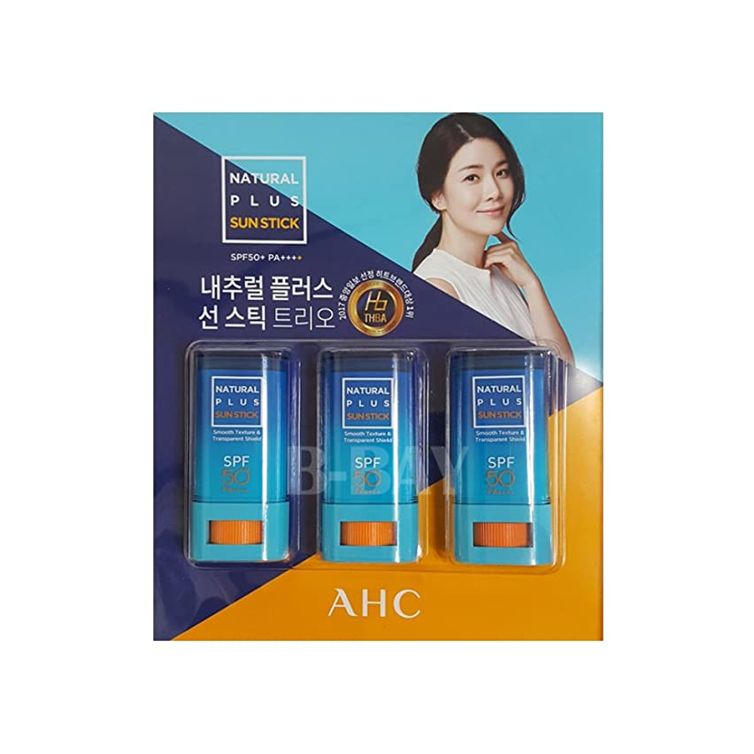 AHC NATURAL PLUS SUN STICK TRIO SPF50+ PA++++ 20g(Pack of 3)