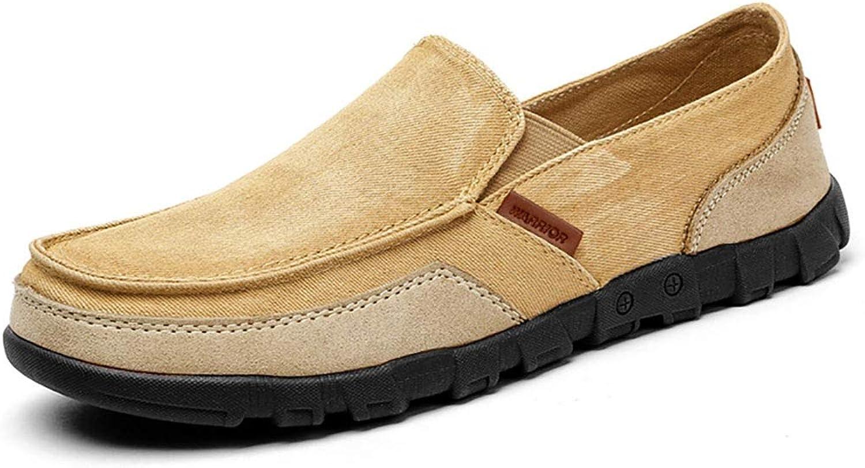 GAIQIN Casual shoes Men's shoes Canvas shoes Men's Breathable Lazy shoes Men's Casual shoes (color   A, Size   41)