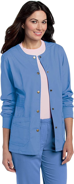Landau Women's Pre-Washed Soft Stretch 2-Pocket Warm Up Scrub Jacket: Clothing, Shoes & Jewelry