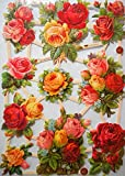 Glanzbilder Blume Rose EF 7393 Oblate Posiebilder Scrapbook Deko GWI 527