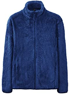 Men Jackets Full Zip Up Fuzzy Pure Color Long Sleeve Casual Winter Warm Slim Fit Simple Trend Cardigan Jackets Outwear