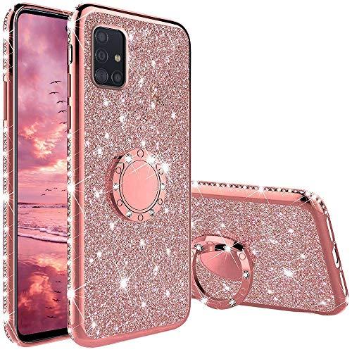 Funda para Samsung Galaxy A51 5G, Glitter Brillante Diamante Carcasa Soporte...
